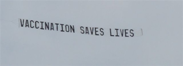 Stop The AVN Plane Banner At Woodford