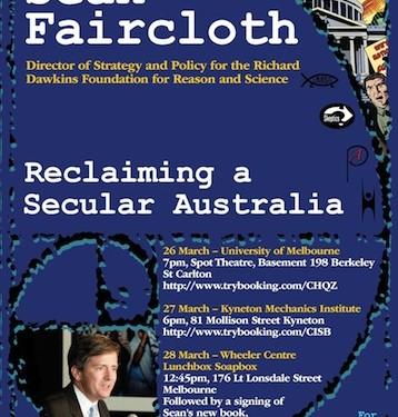 Sean Faircloth Australian Tour Poster